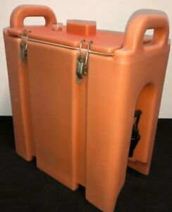 Cambro Orange Insulated Beverage Carrier 250lcd 2 5 Gallon Capacity Our 1