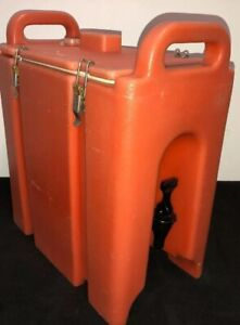 Cambro Orange Insulated Beverage Carrier 250lcd 2 5 Gallon Capacity Our 2