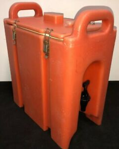 Cambro Orange Insulated Beverage Carrier 250lcd 2 5 Gallon Capacity Our 3