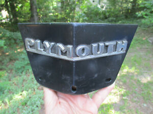 1942 Plymouth Center Grille Hood Nose Trim Part With Script