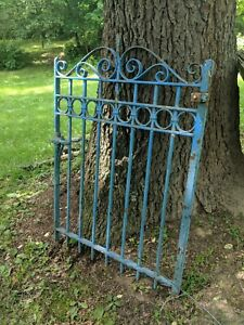 Antique 19th Century Wrought Iron Gate Architectural