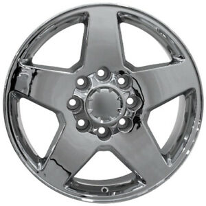 20 Aluminum Rim For 2002 2006 Chevy Silverado 1500 Hd Wheel 8 Lug 180 Chrome