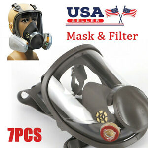 For 3m 6800 Facepiece Respirator Full Face Painting Spraying Gas Mask W filtermp