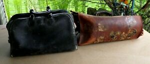 Antique Leather Travel Bag With Stickers Doctor S Bag