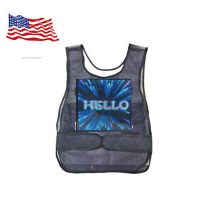 Us Stock Vest Screen Full Color Led Advertising Vest Led Screen