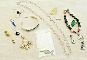 95 Gr Sterling Silver 925 Jewelry Scrap Wear Lot Vintage Navajo Mexico Turquoise