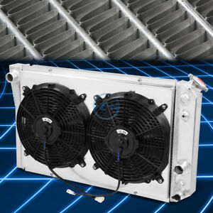 Tri Core Racing Radiator 12v Fan Shroud For 1984 1990 Corvette C4 S10 Blazer V8