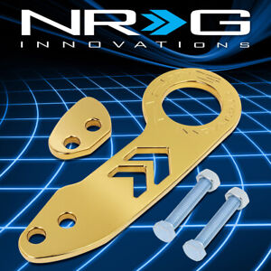Nrg Tow 110gd Aluminum Universal Fit Vehicle Rear Bumper Towing Tow Hook Kit