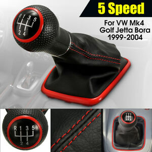 5speed Gear Shift Knob Cover Shifter Gaiter Boot For Vw Mk4 Golf Jetta
