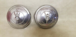 Pair Of Vintage 1930 S Ford V8 Tire Hubcaps 2 Rat Rod Hot Rod