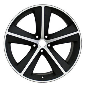 20 Rim Fits 2005 2018 Chrysler 300 Mach d Satin Black 20x9 Aluminum Wheel