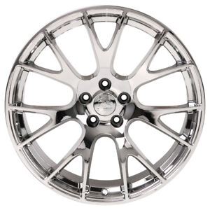 22 Rim Fits 2005 2018 Chrysler 300 Hellcat Style 5 115mm 22x9 Chrome Wheel