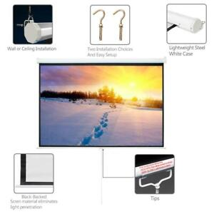 Leadzm 100 4 3 Projector Screen Pull Down Home Theatre Hd 3d 4k Projection