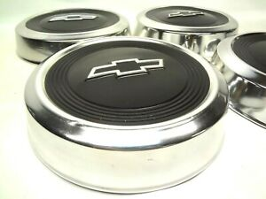 Chevrolet Truck 4 Small Dog Dish Hubcaps Wheel Covers Poverty Caps Hub Cap 1980s