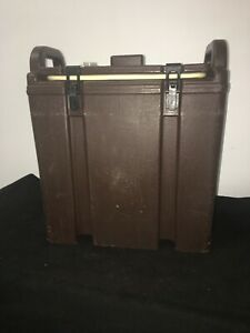 Cambro Brown Insulated Soup beverage Carrier 350lcd 3 3 8 Gallon Capacity 12