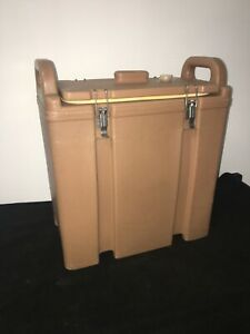 Cambro Tan Insulated Soup beverage Carrier 350lcd 3 3 8 Gallon Capacity 20