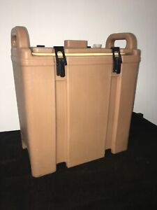 Cambro Tan Insulated Soup beverage Carrier 350lcd 3 3 8 Gallon Capacity 23