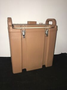 Cambro Tan Insulated Soup beverage Carrier 350lcd 3 3 8 Gallon Capacity 24