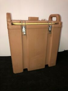 Cambro Tan Insulated Soup beverage Carrier 350lcd 3 3 8 Gallon Capacity 25