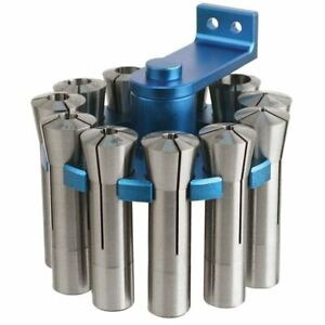 Otmt 12pc R8 Collet Set With R8 Rotating Blue Rack