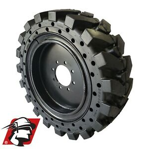 12x16 5 Maximizer Gt Tire Solid Skid Steer Tire 4 Tires wheels Mustang 12 16 5