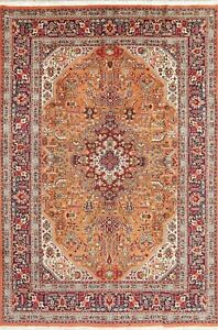 Persian Area Wool Rug Hand Knotted Geometric Oriental Vintage Carpet 6 X 10