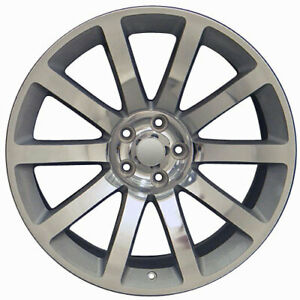 22 Rim Fits 2005 2018 Chrysler 300 Cl02 Silver Machined 22x9 Alloy Wheel