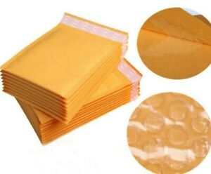 Kraft Bubble Mailers Yellow Padded Mailing Bags Paper Shipping Envelopes
