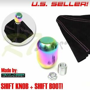 Fit Jeep Dodge M10 Neo Stainless Steel Gear Stick Shifter Knob Pink Stitch Boot