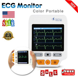 Heal Force 180d Handheld Ecg Monitor Heart Rate Tester System W 50x Electrodes