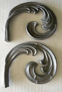 2x Cast Wrought Iron Fence Gate Weld On Garden Decor Free Shipping