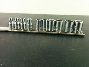 ad757 Snap On 10pc 1 4 Drive 6 pt Shallow Sae Socket Set 3 16 9 16 110tmy