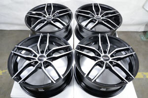 18x8 Black Wheels Fits Civic Camry Mitsubishi Lancer Galant Eclipse Spyder Rims