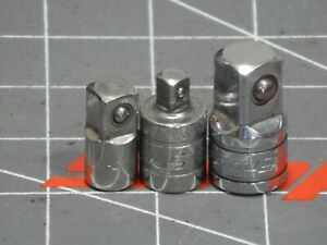 Snap On 1 4 To 3 8 To 1 4 1 2 Drive Socket Adapter 3pc Set Ta3 Tm1 A2 Dr