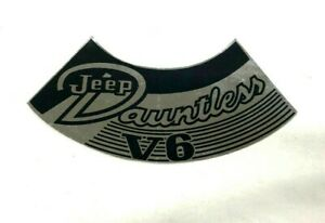 Jeep Jeepster Commando Cj5 Dauntless V6 Air Cleaner Decal