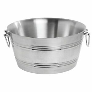 American Metalcraft Party Tub Round 15 Qt Stainless Steel Double Wall 15 dia X