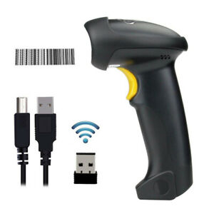 2 4ghz Wireless Barcode Scanner W Usb Receiver For Warehouse Store Supermarket