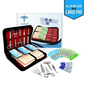 Suture Practice Kit W Suturing Guide E book large Case Large Pad Variety O