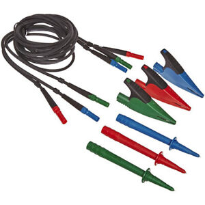 Fluke Tl165x Std Test Lead Set With Leads Probes Caps And Alligator Clips