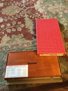 Starrett No 445 Micrometer Depth Gauge 0 9 inch With Case And 8 Rods