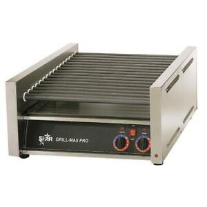 Star 45sce Grill max Pro Electronic 45 Hot Dog Roller Grill
