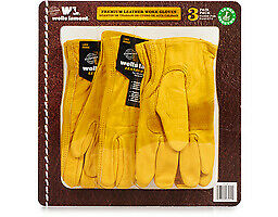 Wells Lamont Work Gloves 3 Count Large