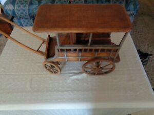 Antique Primitive Wooden Toy Wagon Old For Horse Europe Germany