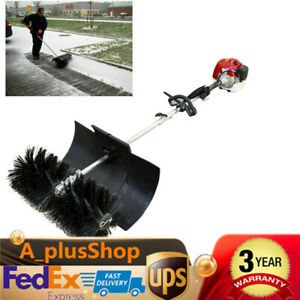 52cc 2 3 Hp Gas Power Hand Held Cleaning Sweeper Broom Driveway Turf Cleaner Usa