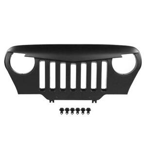 Perfect Fit For Jeep Wrangler Tj 97 06 Car Front Face Abs Black Center Grille