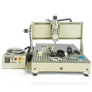 Usb 4 Axis Router Engraver Cnc 6090 Engraving Milling Machine 1500w Ball Screws