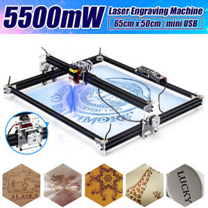 5500mw 65x50cm Laser Engraving Machine Cutting Printer Cnc Control Logo Maker