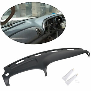 Grey Molded Cap Plastic Dash Pad Cover Overlay Fits 98 02 Dodge Ram Truck