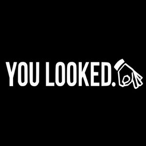 You Looked Circle Hand Game Decal Jdm Euro Stance Sticker