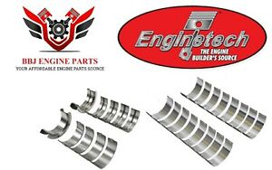Enginetech Ford 221 255 260 289 302 5 0 Rod And Main Bearings Set 1962 2001